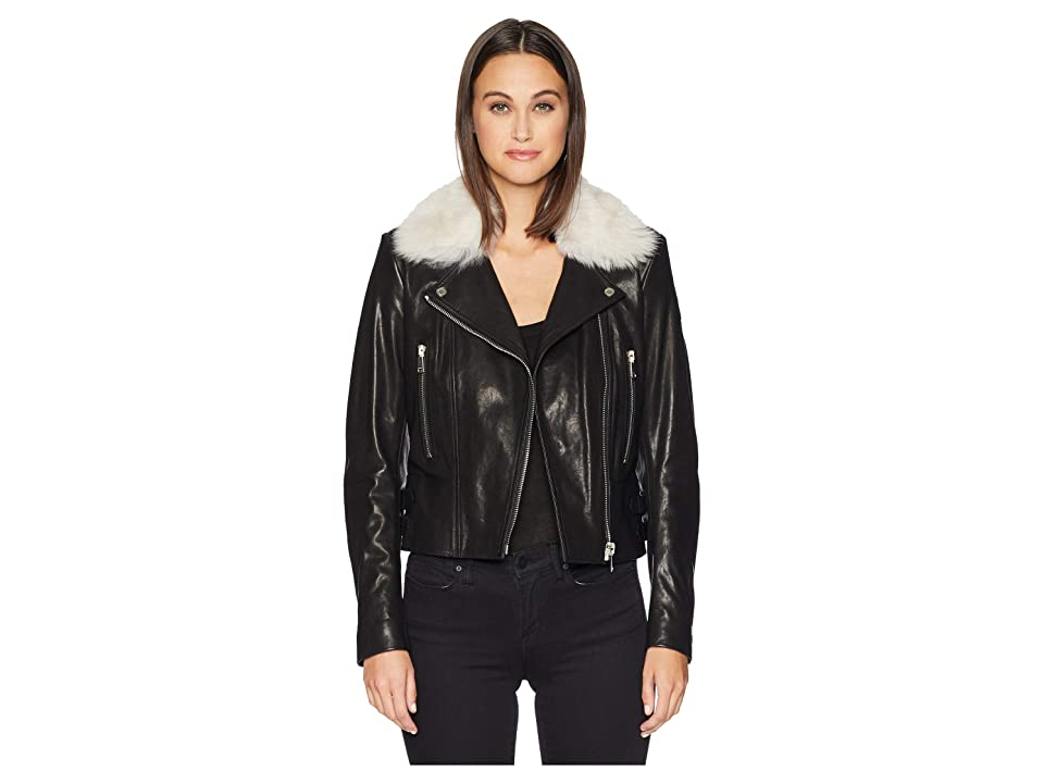 BELSTAFF Marvingt 2.0 w/ Shearling Moto Jacket (Black Natural) Women