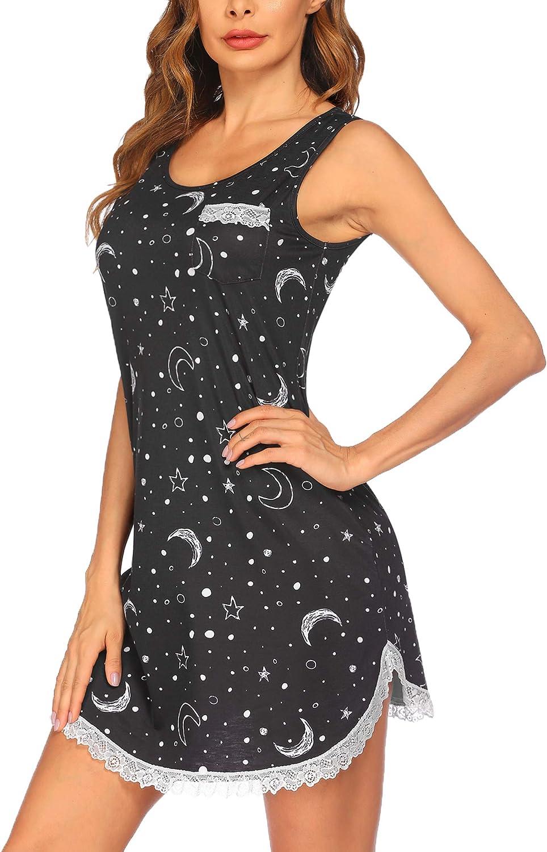 Ekouaer Sleeveless Nightgown for Women Lace Sexy Long Beach Mall Ranking TOP3 Sleep Trim Dres