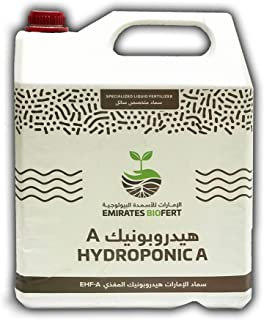 EMIRATES BIOFERT Hydroponic Nutrient Solutions A & B Bundle 10 liter each – Supports Vegetative and Flowering Stages of Pl...