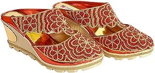 Shandaar Footwear Latest Fashion Women's Casual Red Sandals