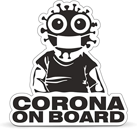 Company Equipment24 Corona On Board Car Sticker Baby On Board Sticker For Cars Notebooks Laptops Etc Film Auto