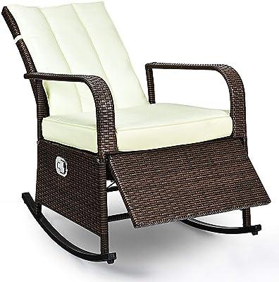 Astonishing Amazon Com Oakland Living Resin Wicker Rocker Set Of 2 Machost Co Dining Chair Design Ideas Machostcouk