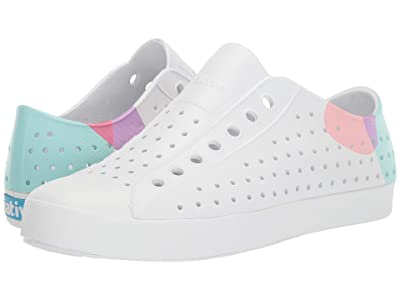 Native Shoes Jefferson Block (Shell White/Shell White/Dot Block 2) Athletic Shoes
