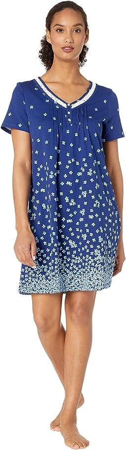 Soft Jersey Short Sleeve Short Gown