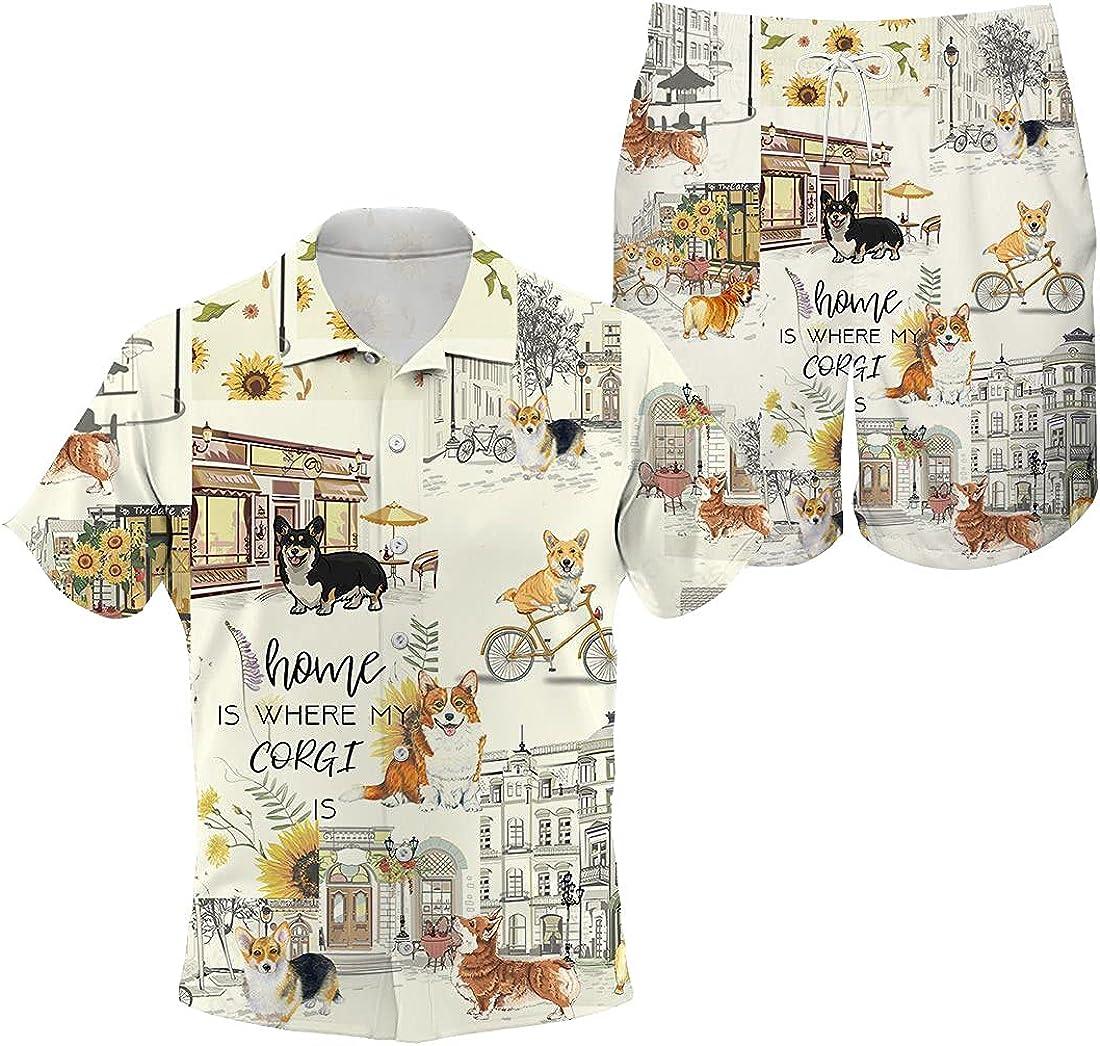 Corgi Hawaiian Shirt Large special price !! Home Urban Sunflower Sho and Popular popular
