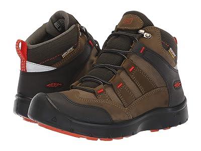 Keen Kids Hikeport Mid WP (Little Kid/Big Kid) (Martini Olive/Pureed Pumpkin) Boys Shoes