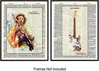 Jimi Hendrix On Photo of Dictionary Page - Unframed Wall Art Prints - Great Gift For Musicians and Rock n Roll Fans - Chic Home Decor - Ready to Frame (8x10) Photo