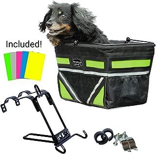 Travelin K9 2019 Pet-Pilot Original Dog Bike Basket Carrier | 10 Color Options for Your Bicycle