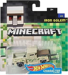 Hot Wheels Minecraft Iron Golem Vehicle, 1:64 Scale