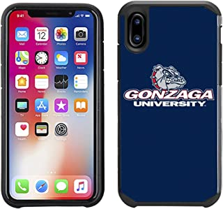 Prime Brands Group Textured Team Color Cell Phone Case for Apple iPhone X - NCAA Licensed Gonzaga University Bulldogs
