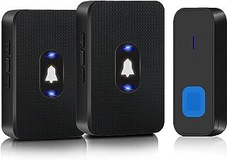 Doorbell Wireless, Eocean Waterproof Door Bell Ringer Kit with Night Light, 300 Meter (1000FT) Long Range, 55 Chimes, 5 Vo...