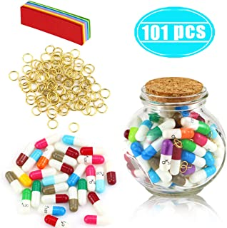 Hslife 101 Pcs Love Capsules, Letters Message Letters Message Wish Bottle, Birthday Present Party Gift