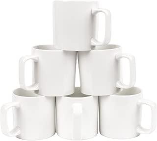 Gourmet Large Coffee/Tea Mug Set (6 Pcs) (White)