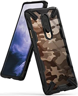 Ringke Fusion-X Designed for OnePlus 7 Pro Case Back Cover Transparent [Military Drop Tested Defense] PC Back TPU Bumper Impact Resistant Protection Shock Absorption Technology Cover - Camo Black