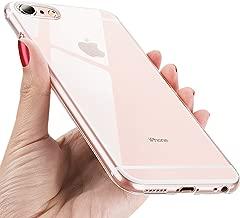 UBEGOOD Funda iPhone 6S, Carcasa iPhone 6 Ligera Silicona Suave TPU Gel iPhone 6S Bumper Case Cover de Protección Antideslizante Caso para iPhone 6 - Transparent