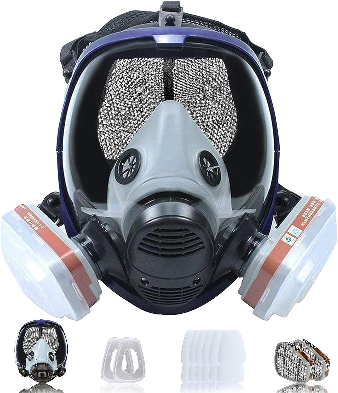Facemoon Mascarilla antipolvo semigaseosa, protección facial química a prueba de polvo para pintar soldadura de polvo de vapor orgánico.