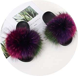 Surprise S Women's Ry Slippers Ladies Cute Plushhair Ry Slippers Women'Sslippers Winter Warm Slippers for Female