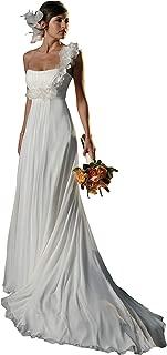 Strapless Empire Waist Chiffon Wedding Dress RD1044 Ivory Size 6