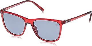 نظارات شمسية من تيمبرلاند للرجال TB919169D56 - لون خمري لامع / رمادي داكن - مستقطبة - مصنوعة من مادة محقونة