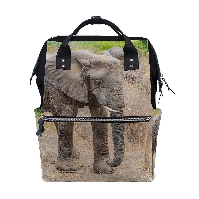Lonely African Elephant School Backpack Large Capacity Mummy Bags Laptop Handbag Casual Travel Rucksack Satchel For Women Men Adult Teen Children