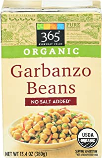365 Everyday Value, Organic Garbanzo Beans, No Salt Added, 13.4 oz