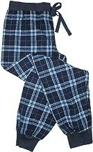 CTM Boxercraft Women's Flannel Jogger Pajama Pants, Large, Blue