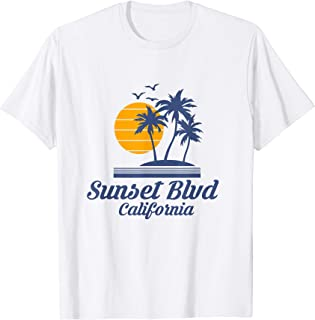 Sunset Boulevard Blvd California Shirt CA State Tourist Gift