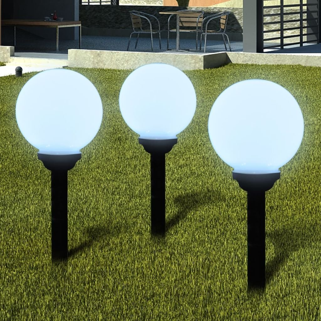 Xingshuoonline - Lámpara solar LED para exteriores con diseño de caminos de jardín, 20 cm, 3 lámparas solares para jardín, patios, caminos, yardas y balcón: Amazon.es: Iluminación