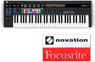NOVATION ノベーション MIDIキーボード/コントローラー 61鍵 61SL MkIII オリジナルステッカー付きセット 【国内正規品】