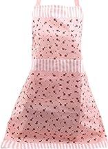 Sawyerda Polyester verstelbare schorten met zakken om te koken, bakken, BBQ, restaurant, roze