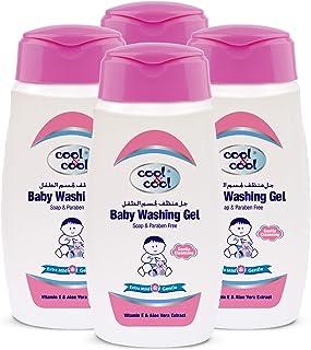 Cool & Cool Baby Washing Gel 250ml - Pack of 4