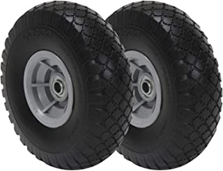 Cosco 12010FFO2E 10-Inch Flat-Free Replacement Wheel for Hand Trucks, 2-Pack, Black, 2 Piece