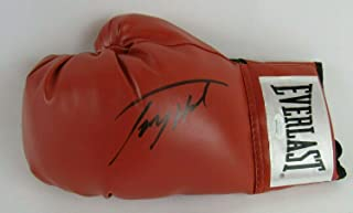 Larry Holmes Signed Auto Autograph Everlast Red Boxing Glove Witness - JSA Certified - Autographed Boxing Gloves
