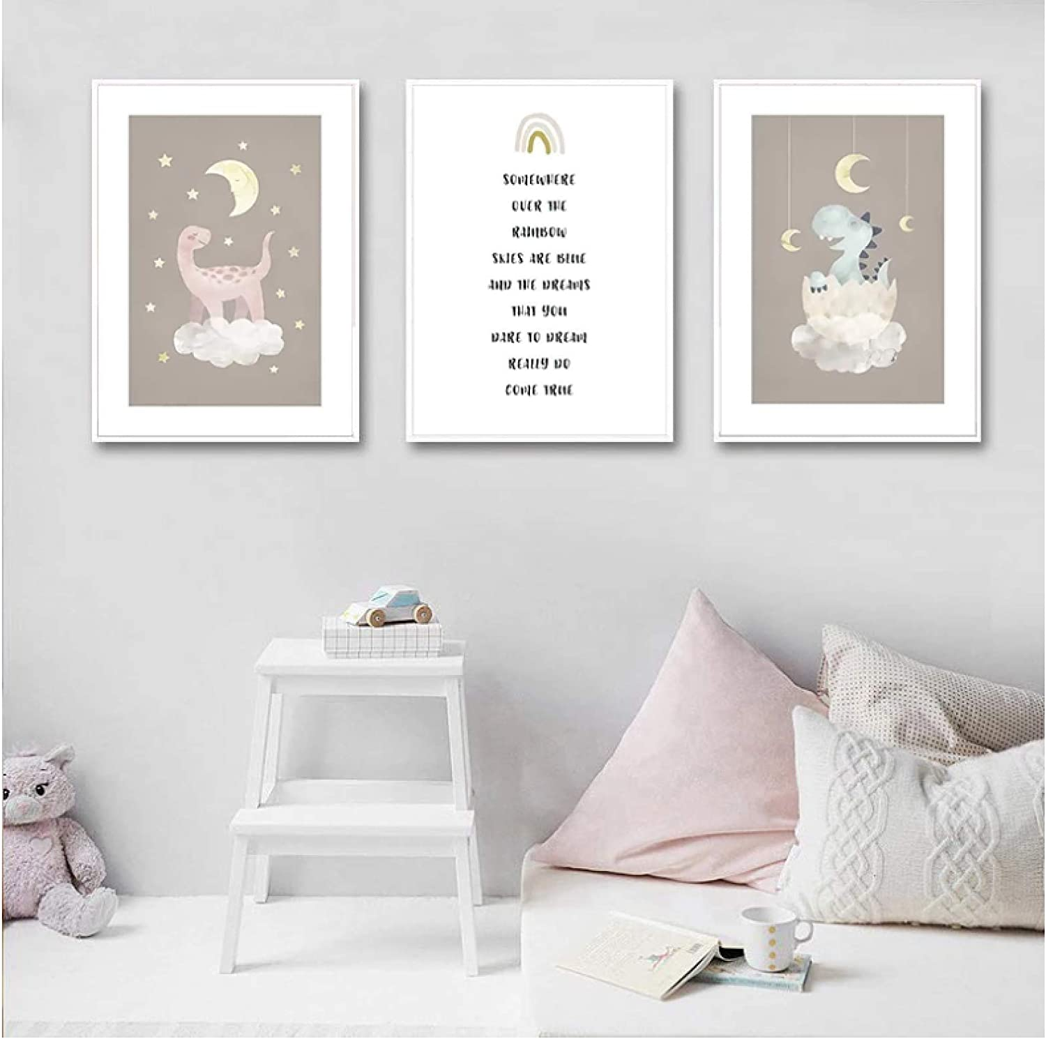 Kissherely Poster Moon Animal Free shipping on posting reviews Nursery Child Canvas Credence Print