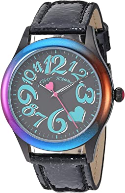 BJ00701-02 - Rainbow Case & Black Strap Watch