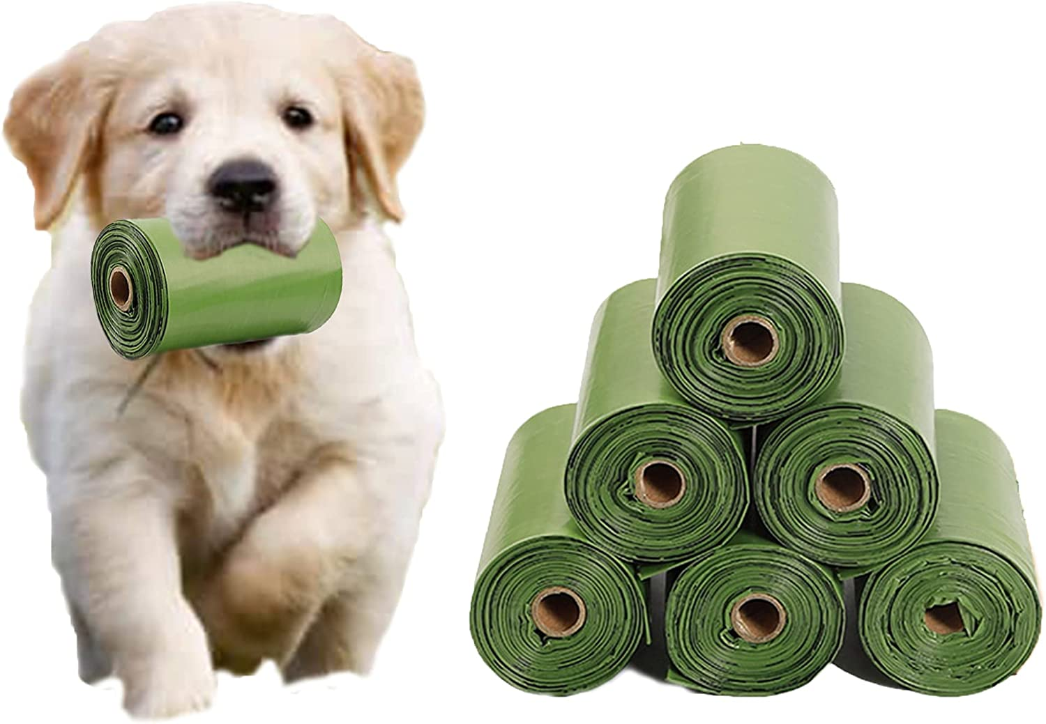 PETAGON pet poop bags, Dog Necessities, unscented biodegradable dog waste bags, durable and environmental-friendly, fitting all types of dispensers