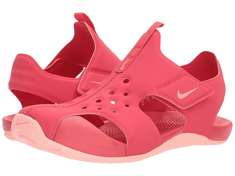 Nike Kids Sunray Protect 2 (Little Kid/Big Kid) (Tropical Pink/Bleached Coral) Girls Shoes