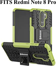 Bracevor Hybrid Back Cover Kickstand Case for Xiaomi Redmi Note 8 Pro - Military Green | Rugged Defender