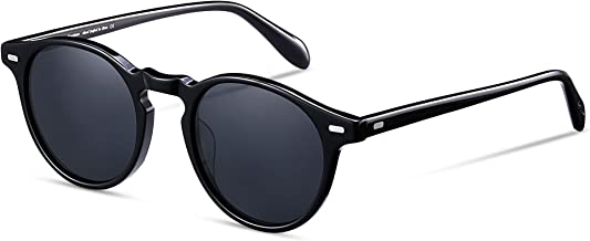 EyeGlow Vintage Round Sunglasses Women Sunglasses Men Polarized Lens Acetate material
