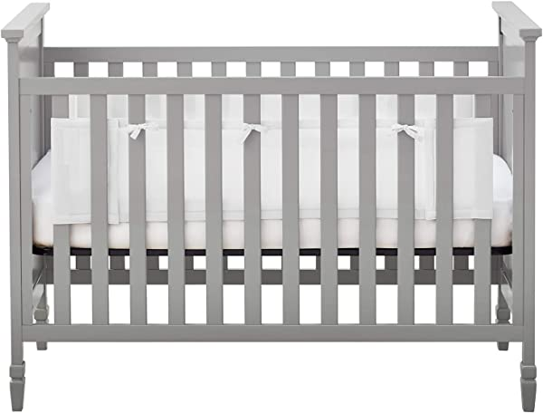 BreathableBaby Classic Breathable Mesh Liner For Solid End Cribs White