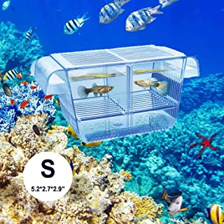 Lefunpets Aquarium Fish Breeding Box for Baby Fish Hatchery, Double Guppies Hatching Incubator Isolation Box