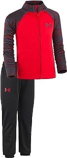 Under Armour Baby-Boys Newborn Precision Warm Up UA Set (6-9 Months, University Red (27D92833-60)/Camo Black/Black)