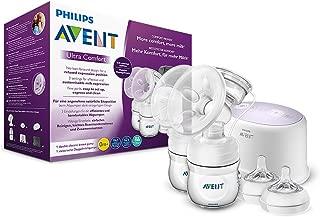 Philips 飞利浦 Avent 电动舒适双吸奶器 SCF334 / 31,包括Naturnah奶瓶,白色