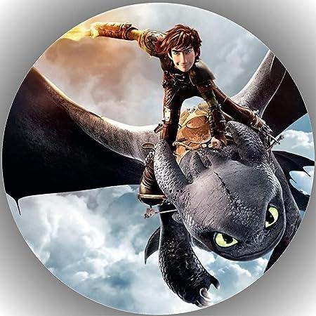 Oblate Dragons Wächter Reiter von Berk P1 Tortenaufleger  Tortenbild Fondant