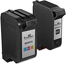 Speedy Inks Remanufactured Ink Cartridge Replacement for HP 23 and HP 15 (1 Black and 1 Color, 2-Pack)