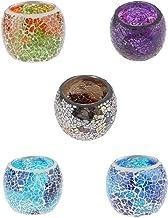 Fenteer Mosaic Glass Candle Holder Votive Tealight Holder Bowl Wedding Decorative Lighting Accessories Festive Light Holde...