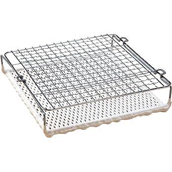 コモライフ 焼き網 食パン トースト サイズ/約23×22.5×5cm 焼き網 遠赤外線効果 コンロ用 おいしい