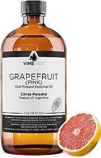 Bulk Pink Grapefruit Essential Oil - 16 Oz Grapefruit Essential Oil in Glass Bottle - 100% Pure & Undiluted Essential Oil ...