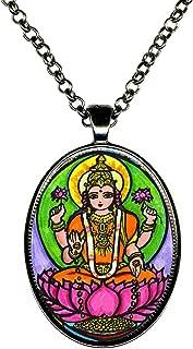 Goddess Lakshmi of Wealth & Fortune Huge Pendant