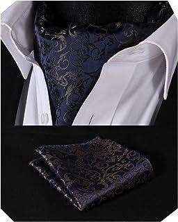 Enlision Cravatta Uomo Floreale Ascot Paisley cravatte Jacquard Formale Classico Elegante e Fazzoletti da Taschino da Uomo